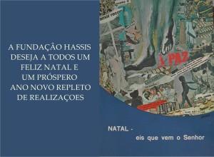 Cartaz de Natal realizado por Hassis em 1977. Causou muita polêmica e, inclusive, Hassis foi chamado para prestar depoimento na censura por causa desse cartaz. É realmente desafiante.